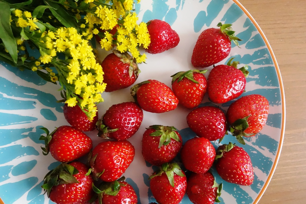 Strawberries on plate