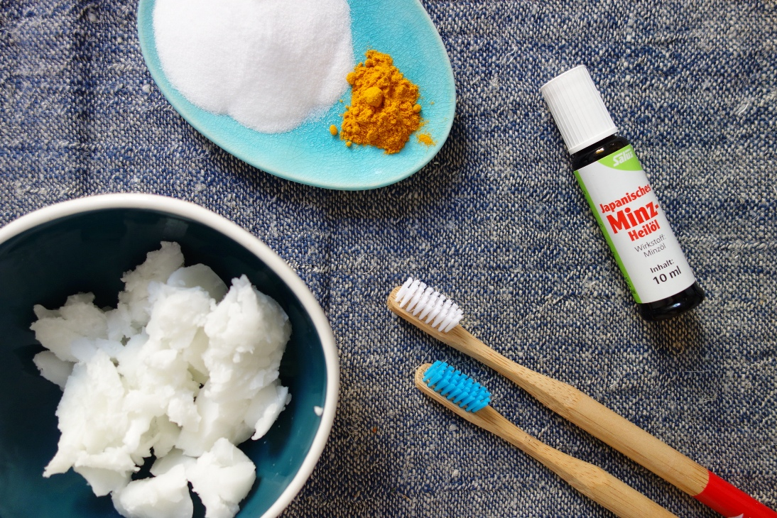 Ingredients for homemade toothpaste