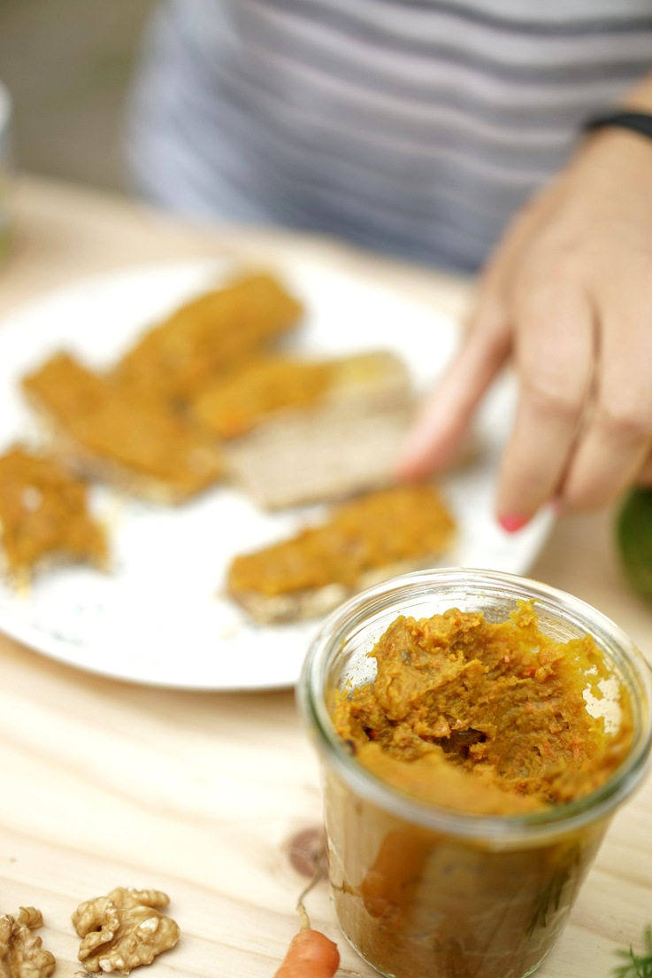 Vegan Pumpkin Spread with Turmeric with me in the background